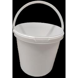 Seau blanc en plastique 25 kg